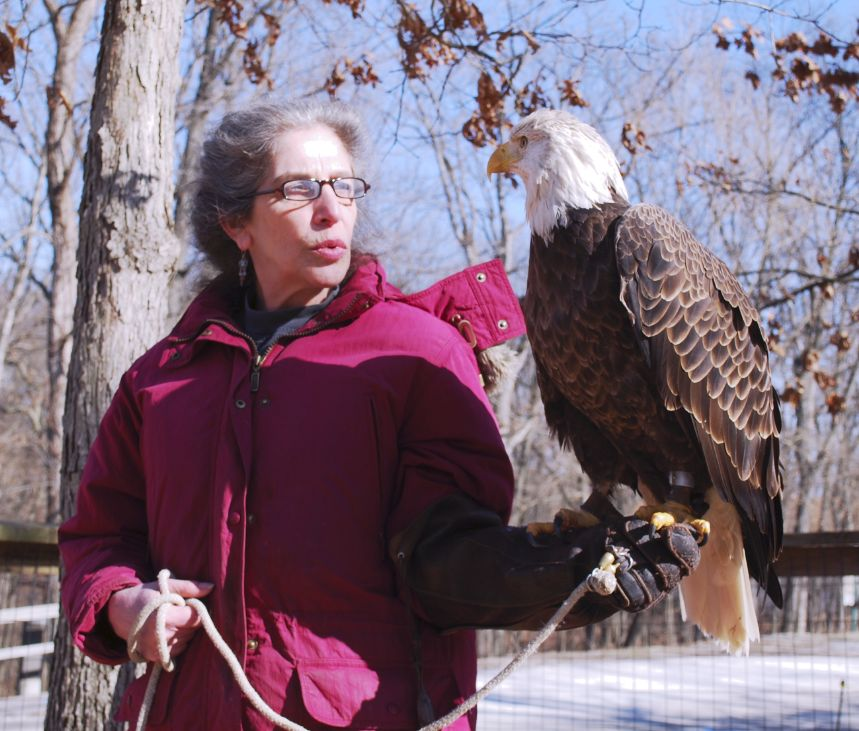 Wendy with Liberty at World Bird sanctuary, Missouri