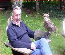 "Steve with ""Utah"", Great Horned owl"