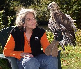 Wendy with Pepepr, Rough Legged Hawk