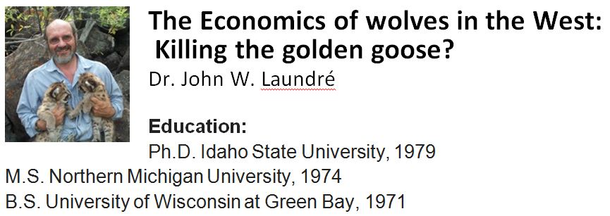 Economic Value of Wolves out West