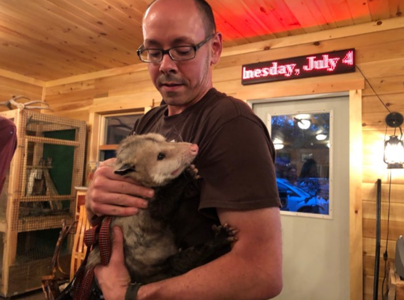 Jason with Possum